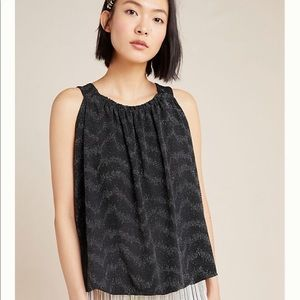 NWT!  Anthropologie Carly Shimmer Top. Size Small
